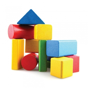 Kids play Small boxes of various sizes and shapes