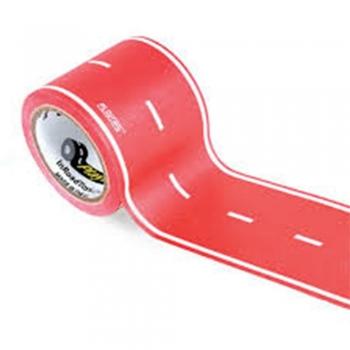 Kids play tape roads