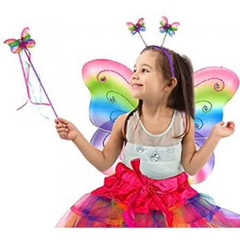 Fairy kids play wings