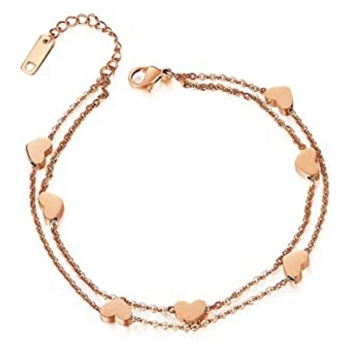 Diamond And Heart Anklets
