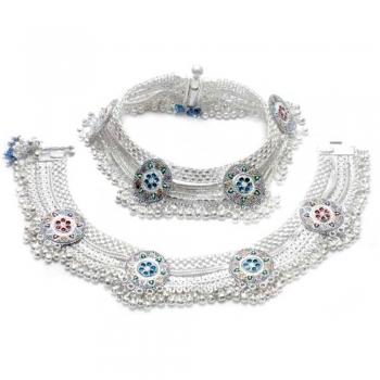 Silver Bridal Anklets