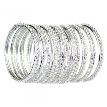 Silver color bangles