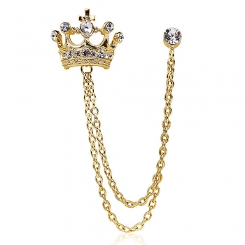 Crown Chain Brooches