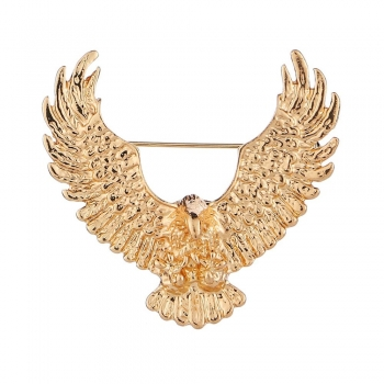 Stainless Steel Golden Army Style Brooches