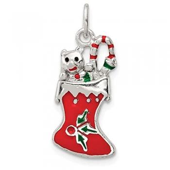 Enamel Christmas Stocking Charms
