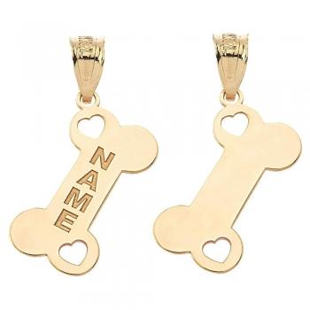 Engravable Dog Bone Charms