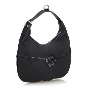 Canvas Black Hobo Bags