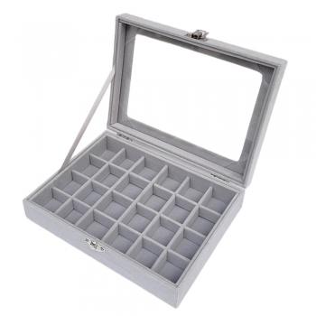 Silver color plastic Jewelry boxes