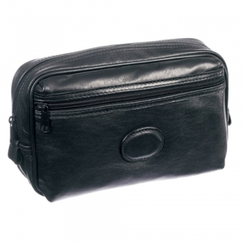 Soft Leather Wash Bags