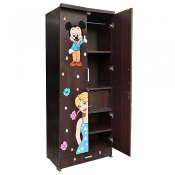 Rectangular Kids Bedroom Wooden Wardrobe