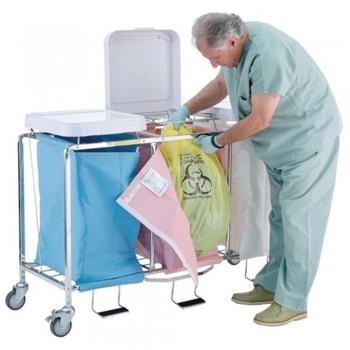 Medical Linen Carts  Hamper Stands