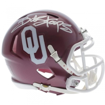 Sports Collectible Helmets [Bob Stoops Oklahoma Sooners Autographed Signed Speed Mini Helmet   Sports Collectibles