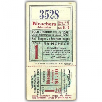 Sports Collectible Ticket Stubs