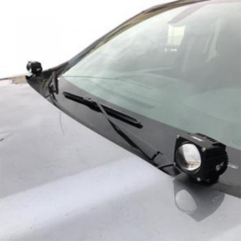 Car Hood Mounted Light Brackets