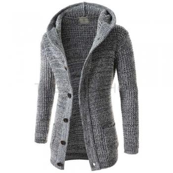 Button-Up Cardigan Sweater Hoodies & Sweatshirts