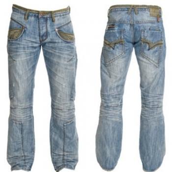 Sand blasted jeans & Denims